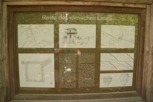 Limes-Infotafel bei Kipfenberg