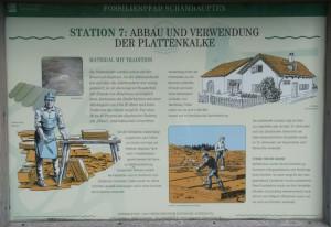 Stein-Abbau und Nutzung, Infotafel, Besuchersteinbruch Schamhaupten