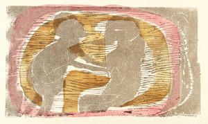 Gerhard Altenbourg, GESCHNÄBELT WAREN SIE, 1973, Farbholzschnitt