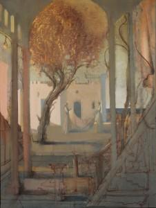 Juri Zurkan, Der stille Auftrag I, 2015, Öl auf Leinwand