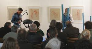 B. Gatscha und G. Anklam, Konzert, Schul- und Bethaus Altlangsow, 17.05.2015, Foto: E. Hartwig