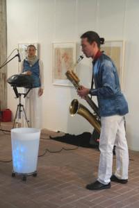 B. Gatscha und G. Anklam im Konzert, Schul- und Bethaus Altlangsow, 17.05.2015, Foto: E. Hartwig