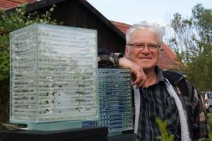 Norbert Horenk und seine Glasobjekte, Güstebieser Loose, 17.05.2015