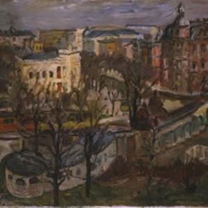 Max Beckmann, Blick auf den Nollendorfplatz, 1911, Öl auf Leinwand, Stiftung Stadtmuseum Berlin, (c) VG BILD-KUNST Bonn, 2015