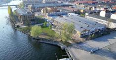 Reinbeckhallen Berlin aus der Luft