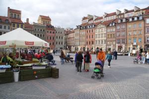 Wiederaufgebaute Häuser, Nixe-Wahrzeichen, Marktplatz, Altstadt, 15.05.2016