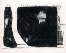 BEGEGNUNG, 03/2018, Currusdecollageradierung und Kaltnadel, 15,4 x 19,2 cm, sign. 1/1-4