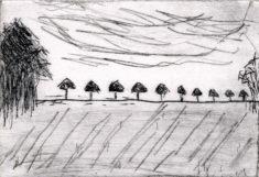 BREIHE, 04/2021, Kaltnadelradierung und Sandpapier, 10 x 14,5 cm, sign. II e.a.