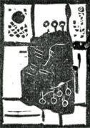 CHANC-GE, 12/2017, Linolschnitt, 10,5 x 7,4 cm, sign. IIe.a.