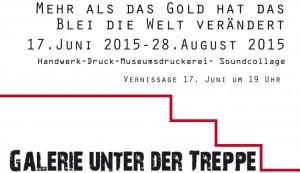 Einladung, Vorderseite, Galerie Unter der Treppe, 17.06.2015