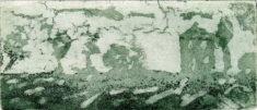 HINLS, 06/2021, Aquatinta in Grün, 6,1 x 14,2 cm, sign. III e.a.