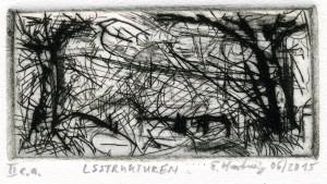 LSSTRUKTUREN, 06/2015, Kaltnadelradierung/Dry point, 5,3 x 10,8 cm, sign. II e.a.