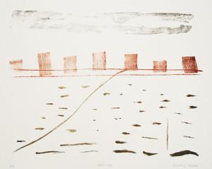 OBERWASSER, 10/2016, 3-Farb-Kreidelithographie, 21 x 27,5 cm, sign. 8/8, auf RICHARD DE BAS-Papier