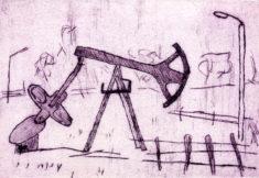 OELPUMPE, 06/2020, Kaltnadelradierung, 11,4 x 16,3 cm, sign. 1/5