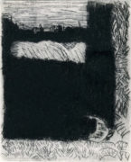 PUIMICHEL-ALLEMANDS, 09/2018, Kaltnadelradierung, Wiegemesser, 15,2 x 12,1 cm, sign. 1/5