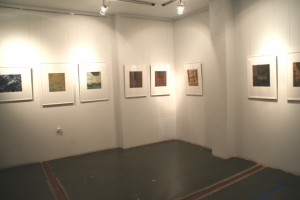 """Ausstellungsansicht, Radierungen aus der Serie """"B"""", 2015"""