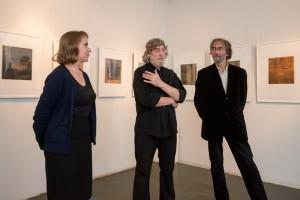 Eröffnungsreden, die Leiterin der Galerie, B. Zabirochin und E. Hartwig,   Foto: Fotograf der Manege