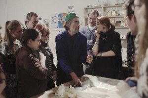 Meisterklasse, E. Hartwig erklärt Techniken,   Foto: K. Snigirevskaya, 31.10.2015