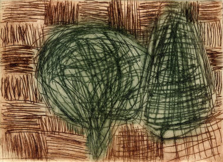 FREREDE, 7/2000, 2-Farb-Kaltnadelradierung von 1 Platte, 10,2 x 14 cm