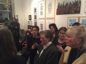 Künstler und Gäste auf der Eröffnung, 08.01.2016,   Foto: I. Neumann