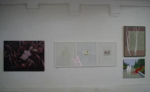Wand unter anderen mit E. Hartwig, CELLELIGURE, IMWIND, VOMPASS, Kaltnadelradierungen