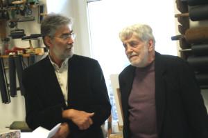 E. Hartwig und Gerrit Bekker im Gespräch,   Foto: B. Lau