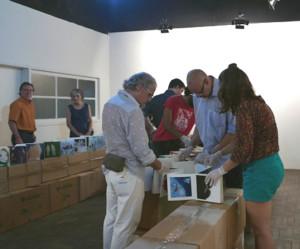 19.04.2016: Buchaufbau, METROPOLIS in Brasil, Porto Alegre, Museo do Trabalho, Foto: Rolf Külz Mackenzie