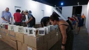 Besucher betrachten METROPOLIS in Brasil, Porto Alegre, Museo do Trabalho, Foto: Rolf Külz Mackenzi