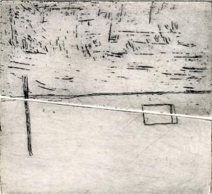 E. Hartwig, HIMMELWEIT, 04/2016, Strichätzung, 11,2 x 12,3 cm, sign I e.a.