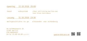 Einladung zur Eröffnung und Veranstaltungen asynchrom 5