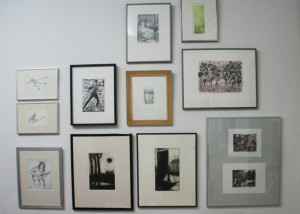 """Präsentation mit E. Hartwig """"BADEND"""", Galerie grünstrasse"""