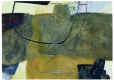 E. Hartwig, EBBEND, 2000, Mischtechnik auf Papier, 52 x 73 cm