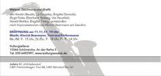 Einladung Musicalinea II, zur Eröffnung am 11.11.2017, Rückseite