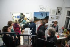 Besucherandrang, Ausstellungseröffnung galerie grünstr., 23.11.2017