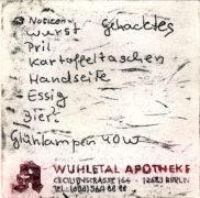 E. Hartwig, Memo APOTHEKE, 03-2012, 2-Farb-Vernis mou, 9,6 x 9,6 cm, sign. II