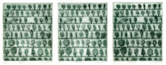 Wo ist Alfred Partikel, HOLZ I, II und III, 09/2016, 3 Kaltnadelradierungen, je 14,3 x 12 cm