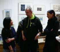 Gäste im Gespräch mit H. v. Bodecker, Foto: B. Hauschild, 09.12.2017