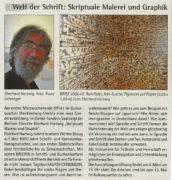 Strelitzer Echo, Welt der Schrift: Skriptuale Malerei und Graphik, 03. März 2018, Seite 10