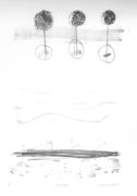 E. Hartwig, BEIDEUFER, 02/2017, Kreide-Lithographie, 26,5 x 18 cm auf 56 x 33 cm sommerset-Papier