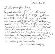 Brief von Martin S., 25.06.2018