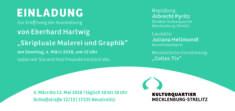 Einladung E. Hartwig, Skriptuale Malerei und Graphik