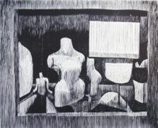Matthias Schroller, Horn, 2017, Holzschnitt, 21,5 x 27 cm