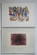 X. Scherenberg, Interseccion Huaje 2, 2018, und So far away from Zen 1, 2017, Lithographien