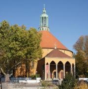 Ev. Kirche auf dem Tempelhofer Feld, Wolffring 71, erbaut 1927/28, 14.10.2018