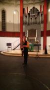 Gert Anklam spielt Saxophon, Foto: B. Hauschild