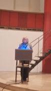 Doris Ahrendt von der Gemeinde begrüßt, Foto: B. Hauschild
