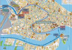 Venedig, map with Palazzo Minelli - Galleria Venezia Viva