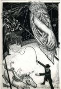 Jürgen Kiecker, Auf der Galerie, 10/2007, Mezzotint, Dry point, 29,7 x 19,8 cm, sign. 9/10