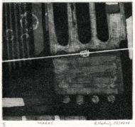 E. Hartwig, WAQUE, 04/2016, Aquatintaradierung geschabt, 11,2 x 12,3 cm, sign. II