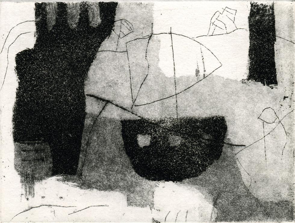 Eberhard Hartwig, o.T. (BOOT), 05/1998, Aquatintaradierung, Strichätzung und Kaltnadel, 11,9 x 15,8 cm, sign. II